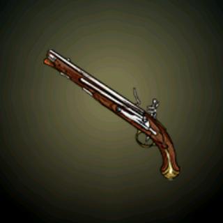 美国枪炮匠 - 这把手枪是一位美国枪械制造师使用型号1733法国龙骑兵手枪的零件组装而成。