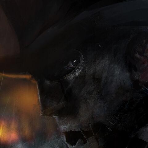开膛手杰克的面具的概念图