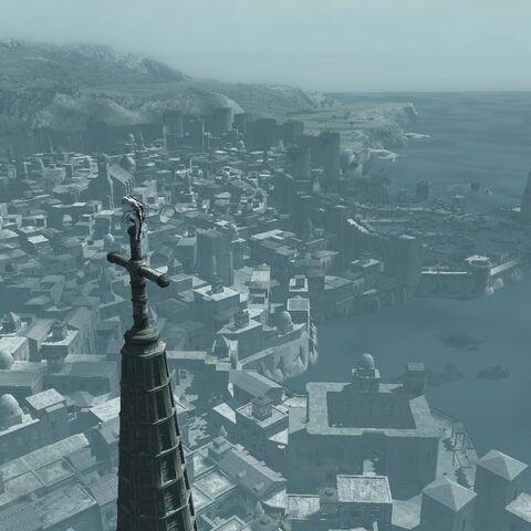 كاتدرائية الصليب المقدس، أعلى نقطة رؤية في أساسنز كريد.