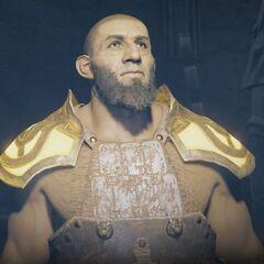 Testiklos in Isu armor