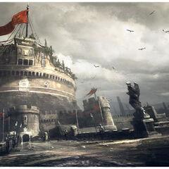 Concept art van het Castel Sant'Angelo.