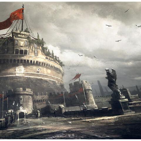 圣天使城堡的概念设定图