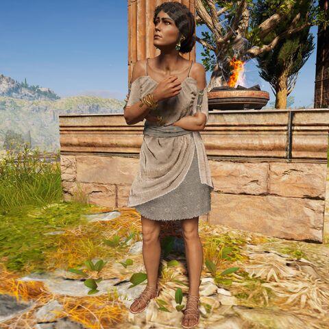 佐菲拉斯站在神庙外
