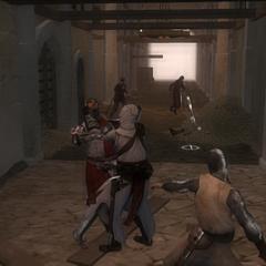 阿泰尔刺杀圣殿骑士首领