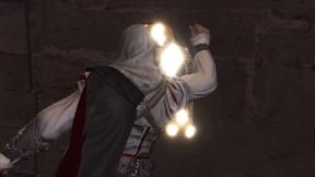 Ezio enlevant l'avis de recherche