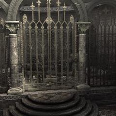 La grille bloquant l'accès au tombeau de Romulus