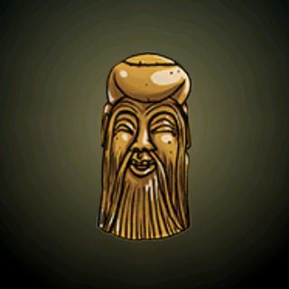 老人 - 从骨头刻制而成,这鼻烟壶有著一名快活的老人在吸烟的脸孔。