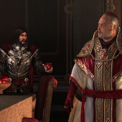 Cesare vraagt naar de appel uit het paradijs.