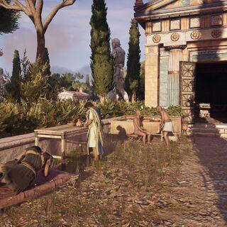 希波克拉底在忒拜照顾加列欧斯