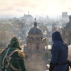 Quatre Assassins sur le toit du <a href=