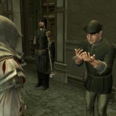Le contact confiant les trois lettres à Ezio