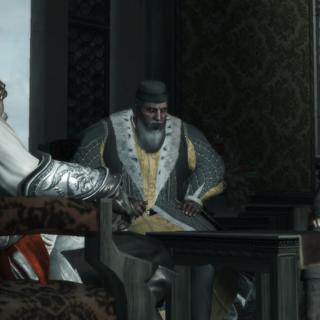 Ezio, Agostino et Antonio réfléchissant à leur prochaine manœuvre