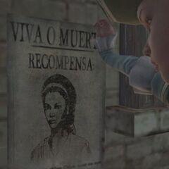 Aveline enlevant son avis de recherche en tenue d'esclave.