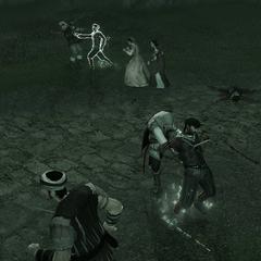 Ezio vecht met de mannen van Vieri.