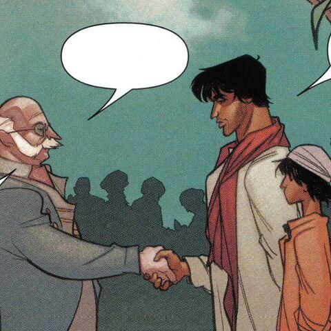 威廉与阿尔巴兹·米尔相遇