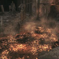 La salle prenant feu
