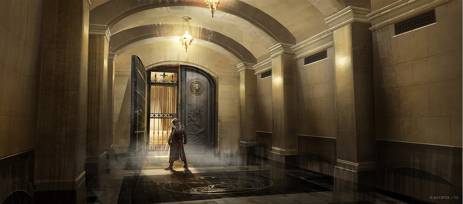 Image - ACS Bank of England Vault Door - Concept Art.jpg ...