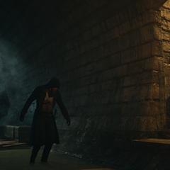 Arno s'échappant des égouts