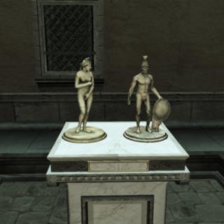 Les statuettes d'Aphrodite (Vénus) et de Mars à Monterriggioni