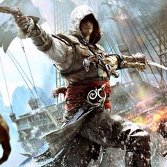<b>Edward Kenway</b> attaquant un navire