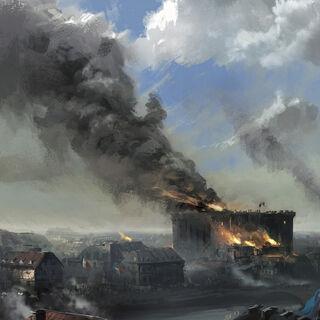 巴士底狱起火后远景概念设定图