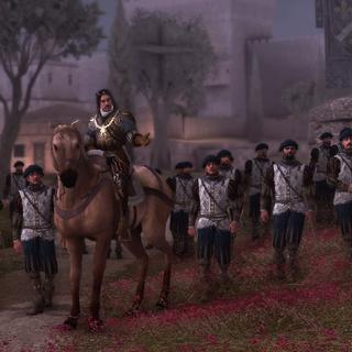 Octavian de Valoi mit seinen französischen Soldaten.