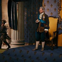 弗朗索瓦站在路易十六后方