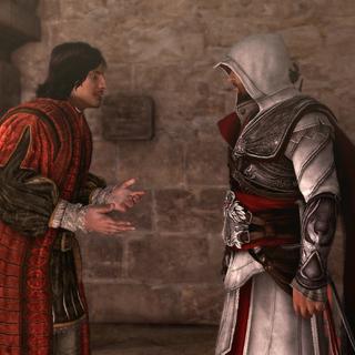 Copernicus discussing his situation with Ezio