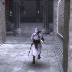 阿泰尔在堡垒中穿行