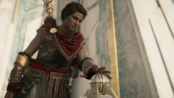 ACOD FoA JoA The Fate of Atlantis - Kassandra activates Pedestal