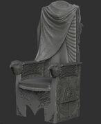 AC3 King Washington Throne ZBrush Model