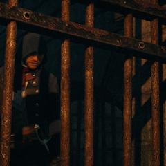 Arno espionnant La Touche et le Roi des Thunes