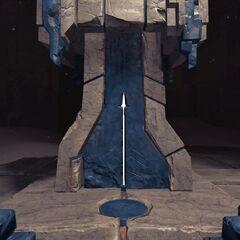 刻有矛型凹槽的锻造台