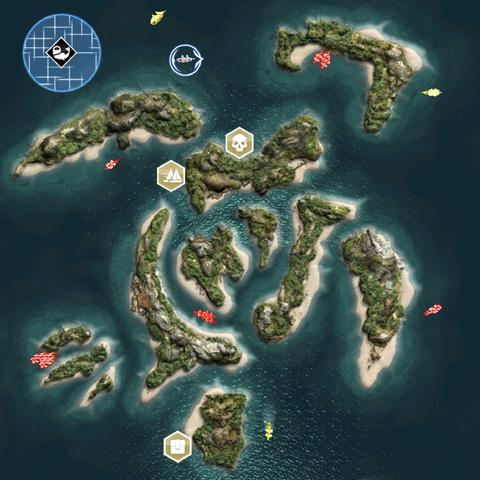 青年岛的鸟瞰图