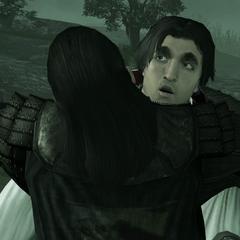 Mario knuffelt Ezio.