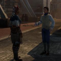 Gérald informant Aveline de la livraison de poudre