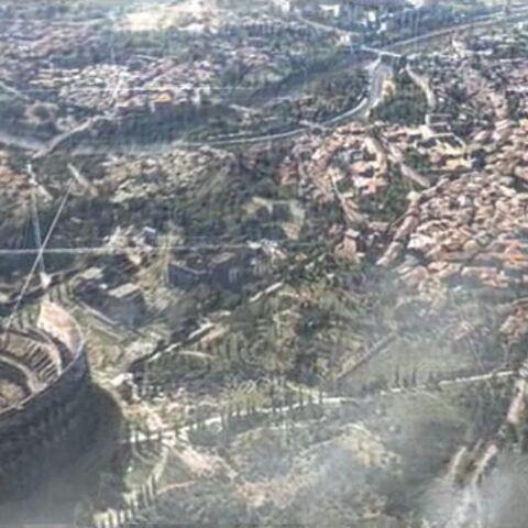 Vue aérienne de <i>Rome</i> en 1503