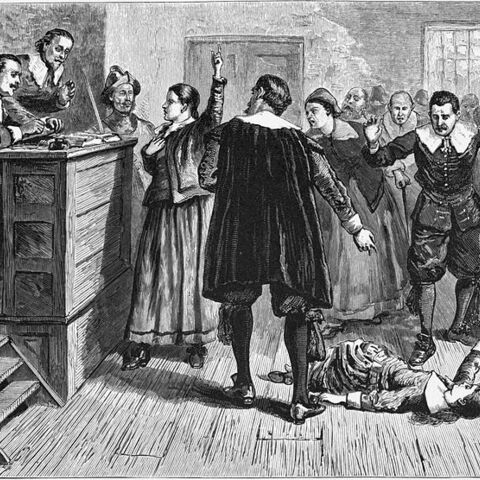 An 1876 illustration of a court proceeding during the trials