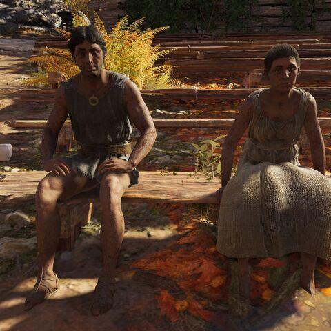 普雷西欧斯与伊蒂亚坐在剧场里