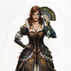 Concept-art <b>Élise</b> en robe de dame