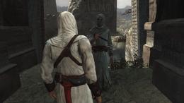 Altaïr rozmawia z informatorem