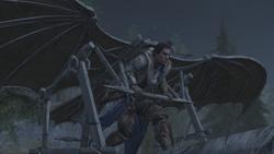 Connor usa macchina volante