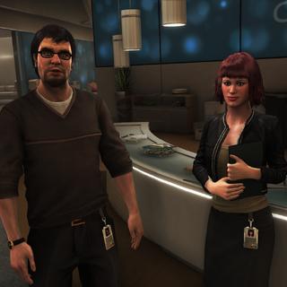 梅兰妮向分析师介绍奥奥利佛