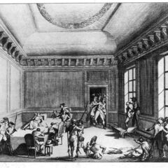 An engraving of Robespierre's arrest