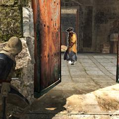 爱德华偷偷溜进了堡垒