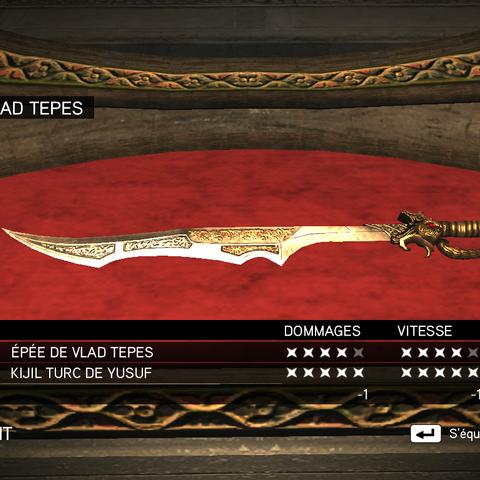 Épée de <b>Vlad Tepes</b>