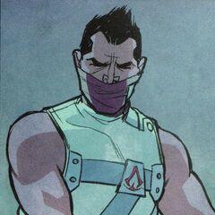 扎斯迪普穿着他的刺客服