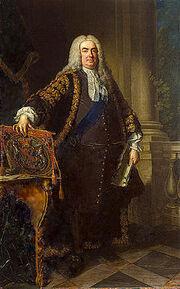 Painting of Robert Walpole