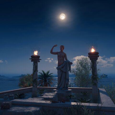 夜间的阿芙洛狄忒圣坛