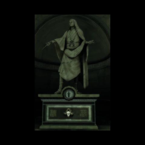 Die Statue von Leonius in Monteriggioni